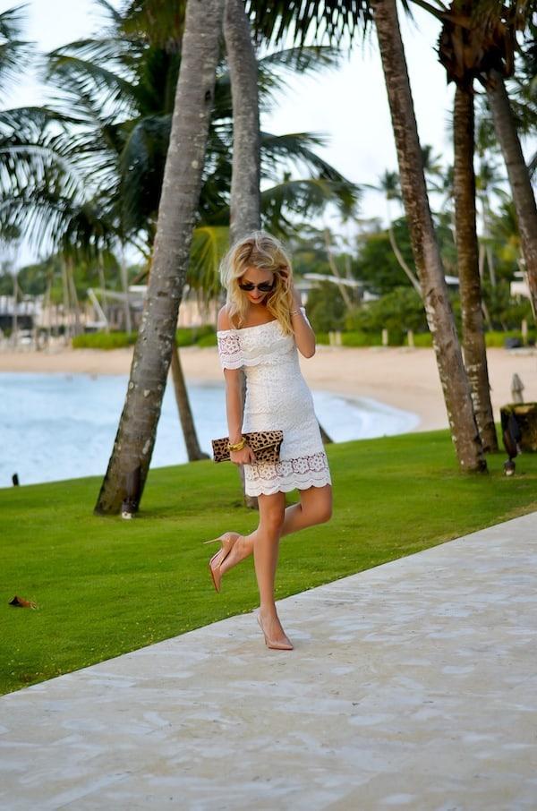 WYLDR Off Shoulder White Lace Dress