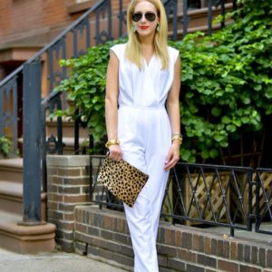 White Wrap Front Jumpsuit