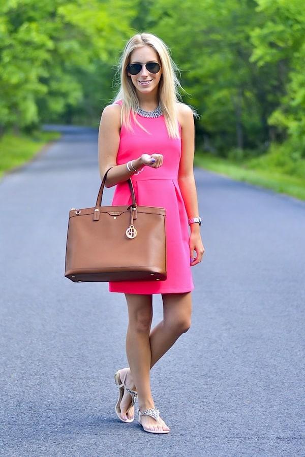 Everly Pink Shift Dress