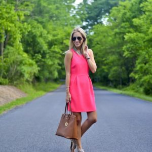 Everly Pink Shift Dress