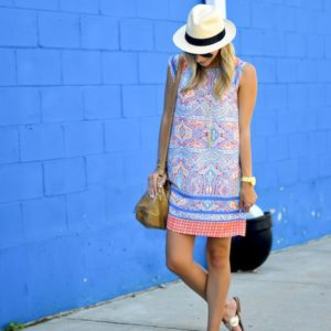 Everly Print Shift Dress