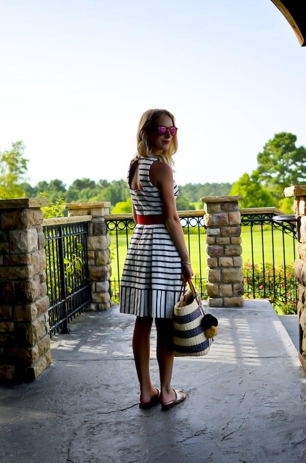 Navy and White Stripe Dress