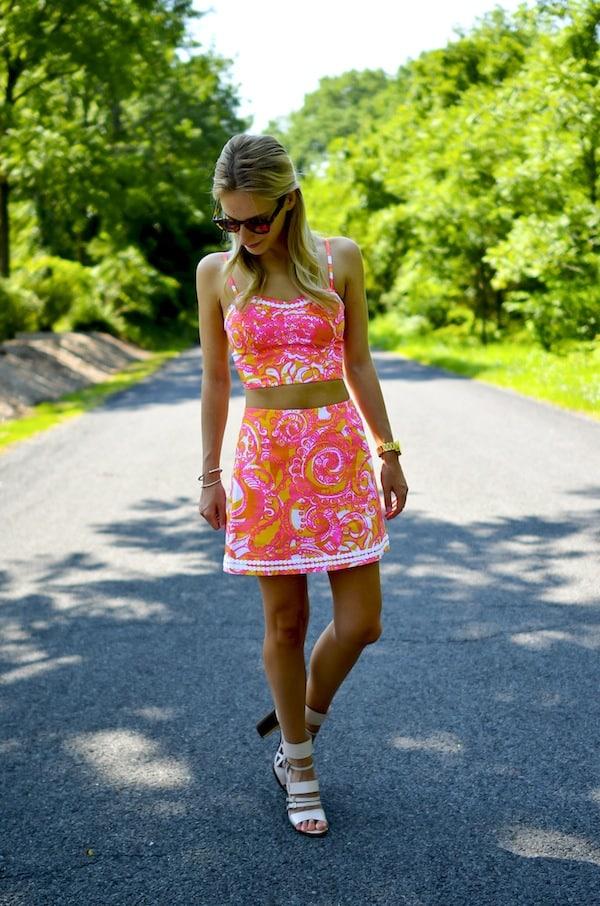 Lilly Pulitzer Crop Top Skirt Set_4