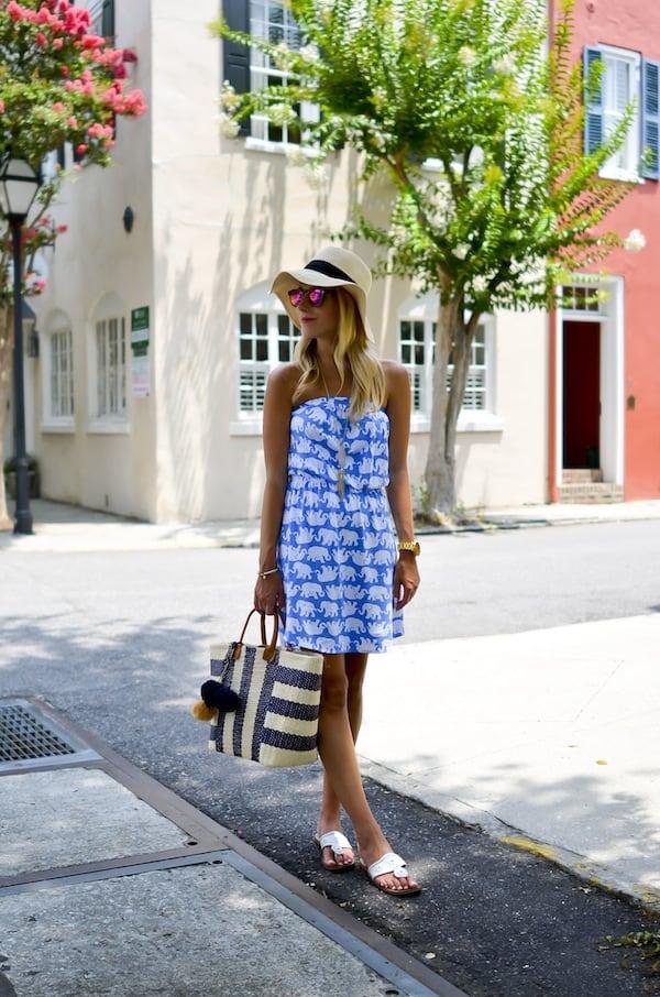 Lilly Pulitzer Elephant Print Dress