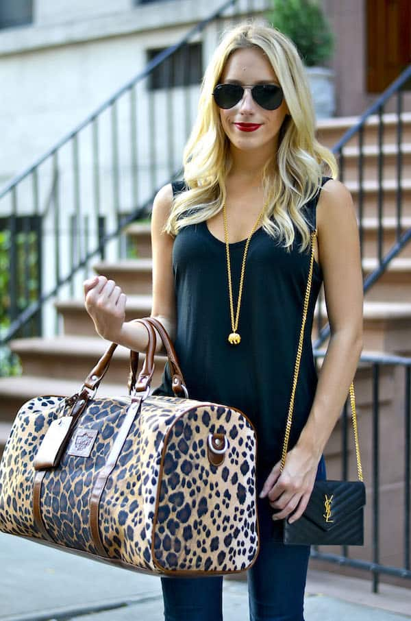 Barrington Gifts Leopard Duffle Bag