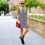 Black and White Check Shift Dress