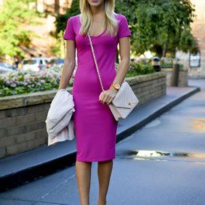 Leith V-neck Bodycon Dress