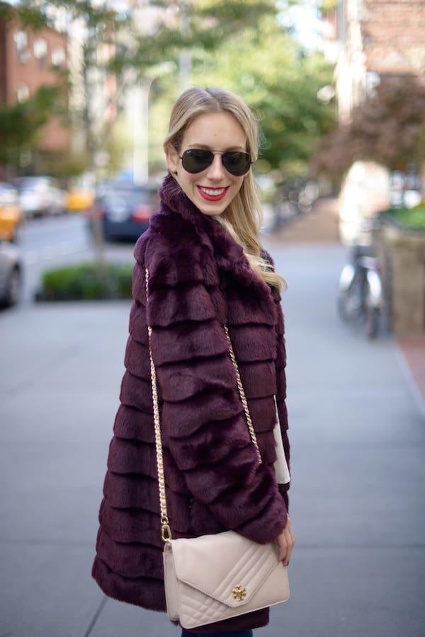 Eliza J Faux Fur Coat - Katie's Bliss