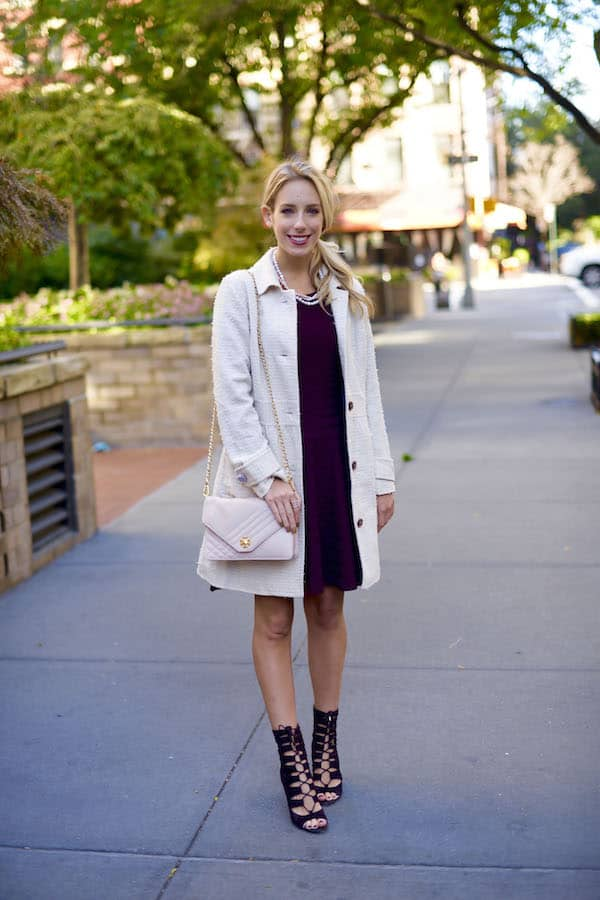 Ivanka Trump Fit and Flare Sweater Dress