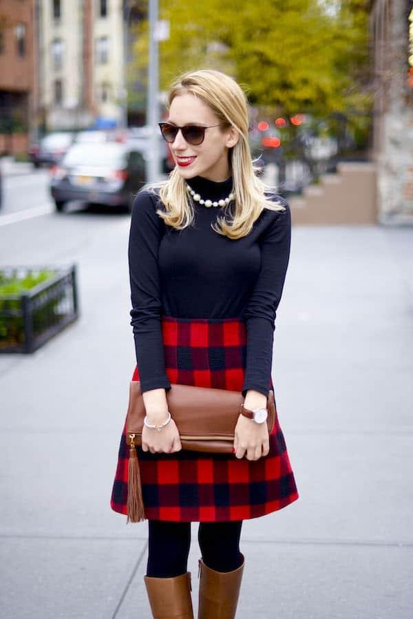 Topshop Plaid Skirt