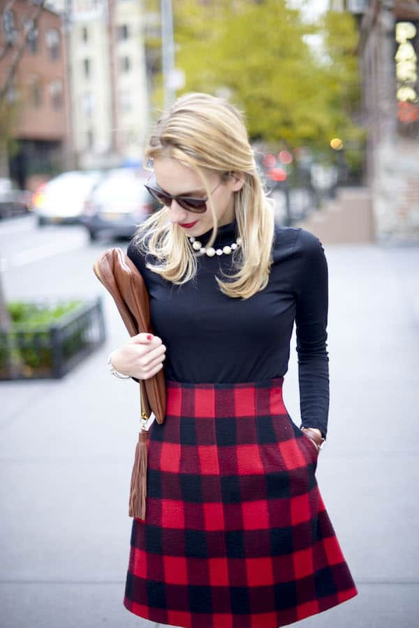 Preppy Plaid Holiday Outfit Katie S Bliss