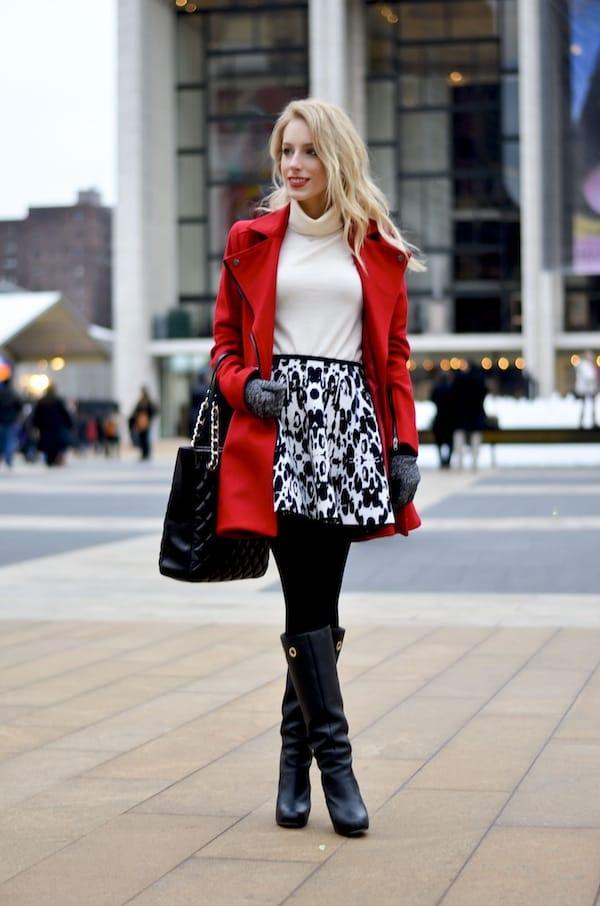 Red Skater Coat