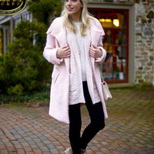 Eliza J Pink Coat