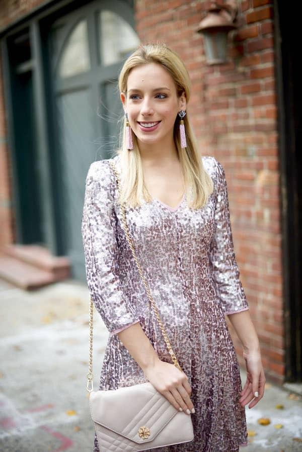 Eliza J Pink Sequin Dress