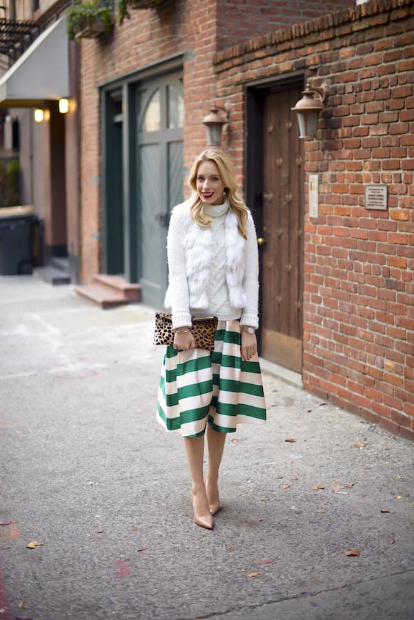 Green Stripe Skirt