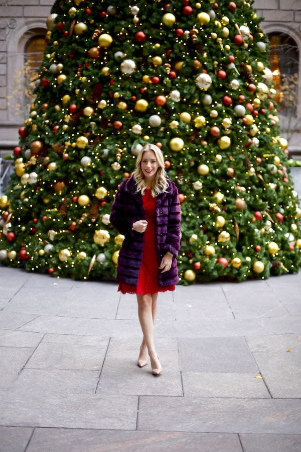New York Palace Hotel Christmas Tree