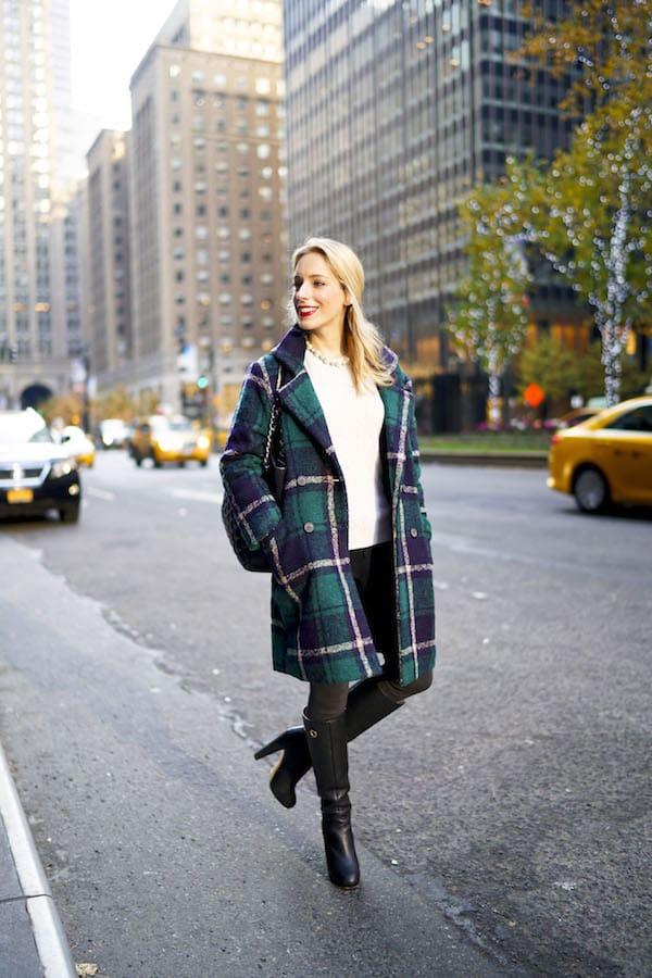Plaid Cardigan Coat