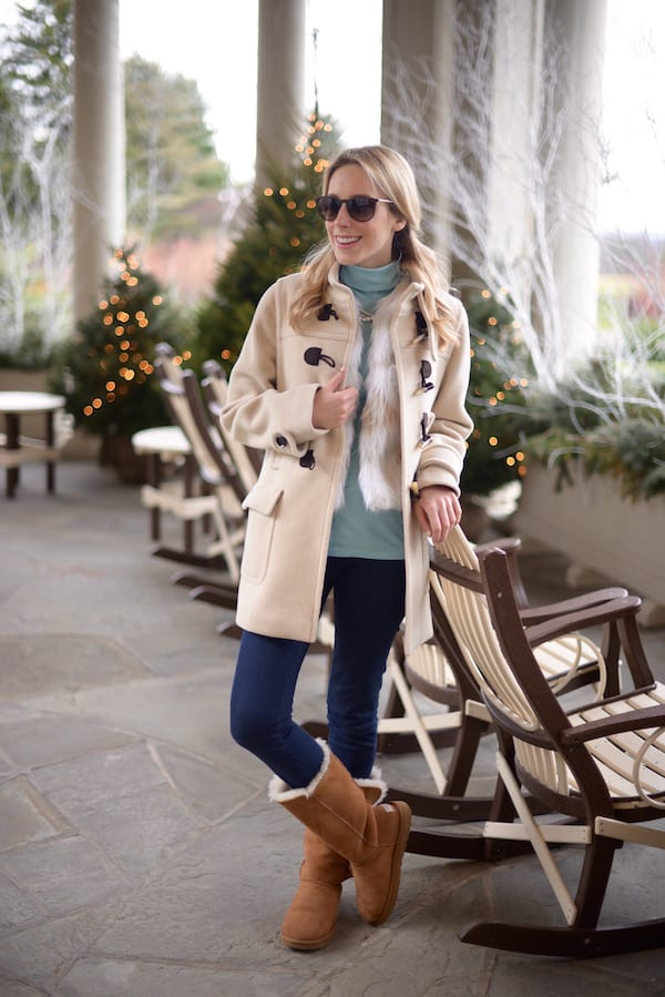 Beige Toggle Coat