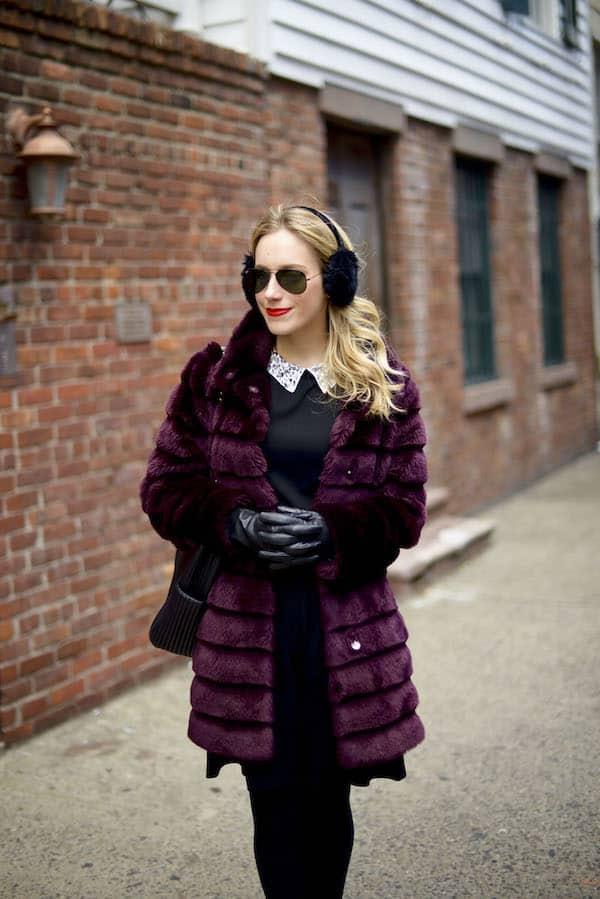 Black Embellished Collar Fit Flare Dress_3