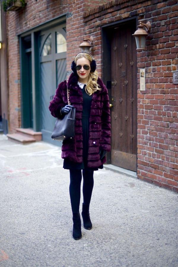 Black Embellished Collar Fit Flare Dress_6