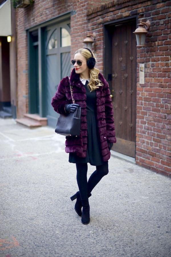 Black Embellished Collar Fit Flare Dress_9