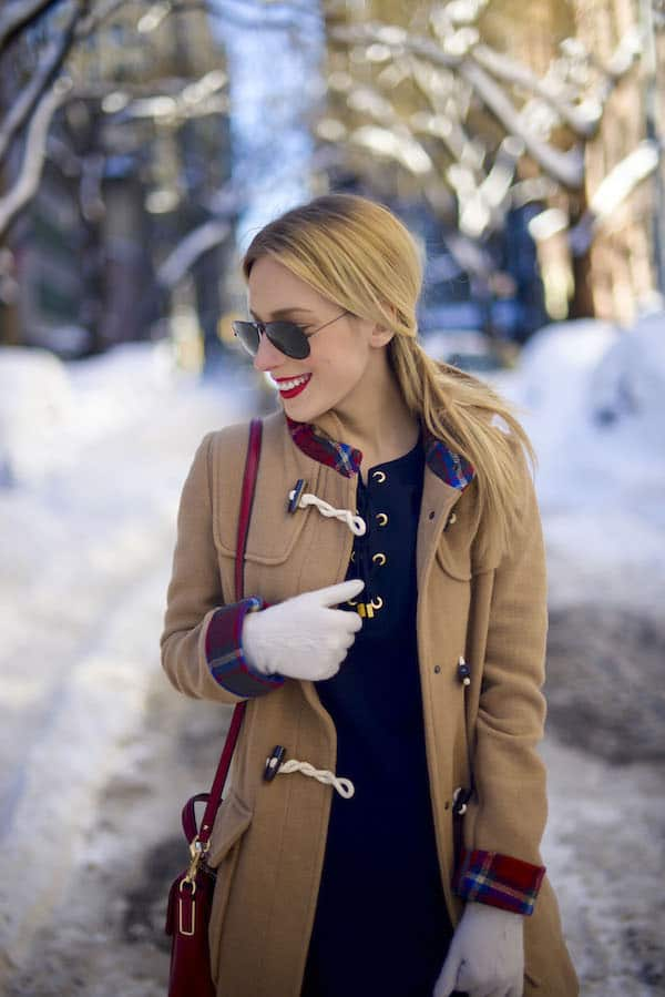 Camel Jacket with Plaid Lining