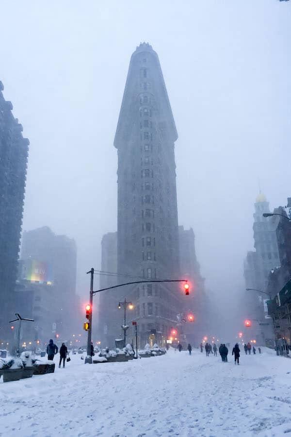 Flatiron Building Snowstorm