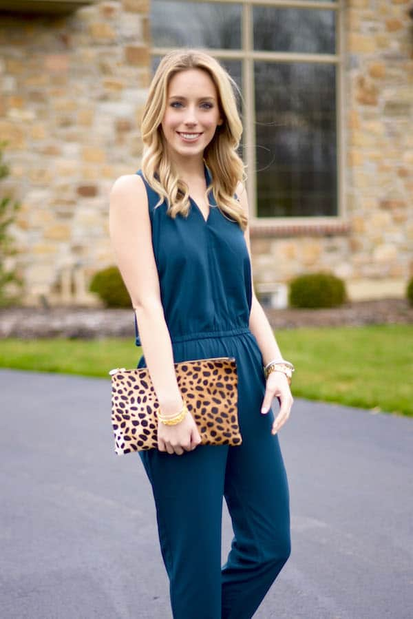 Teal Tie Back Jumpsuit
