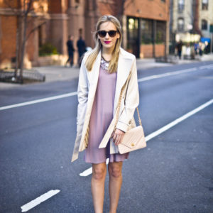 Lavender High Neck Dress