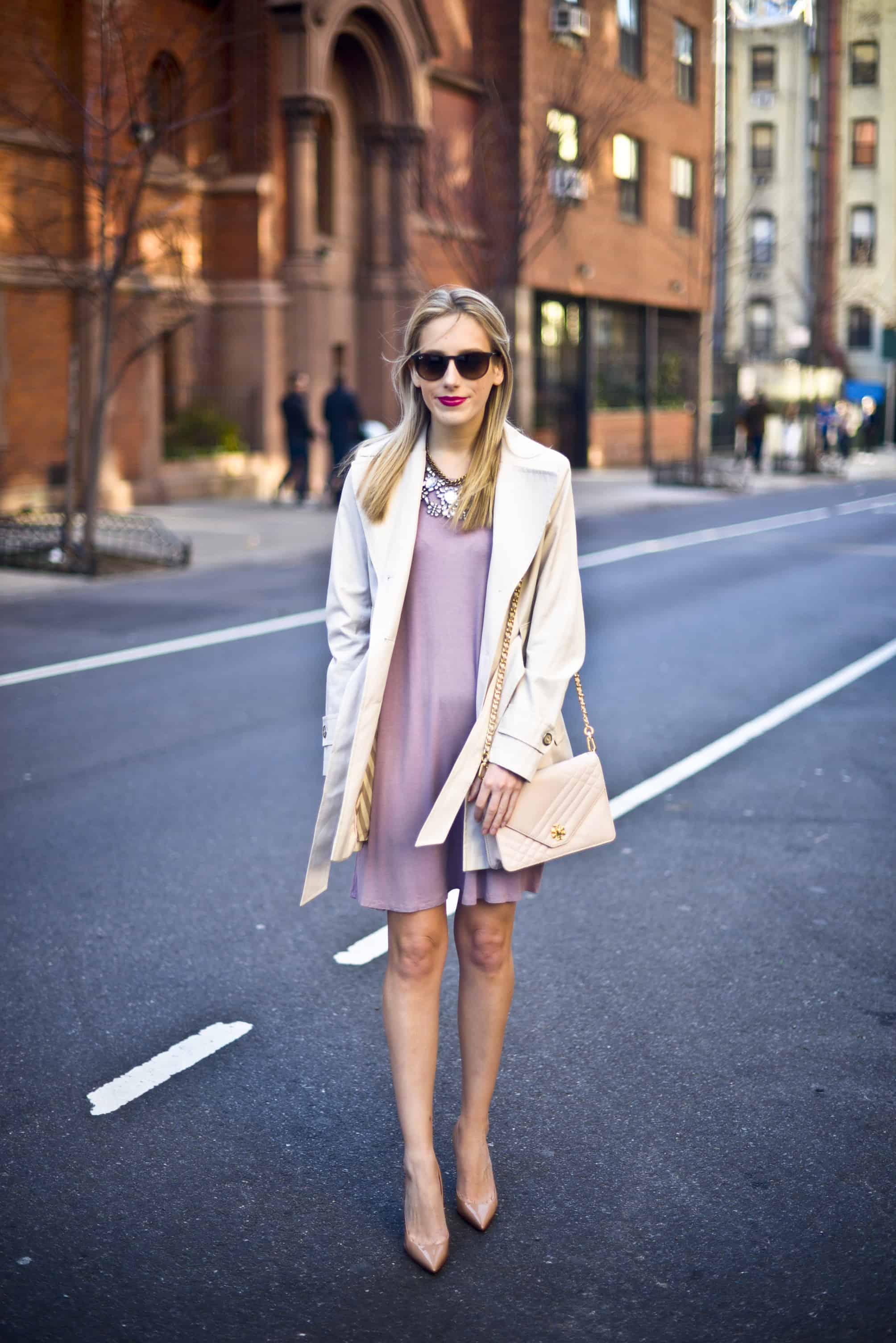 Lavender High Neck Dress