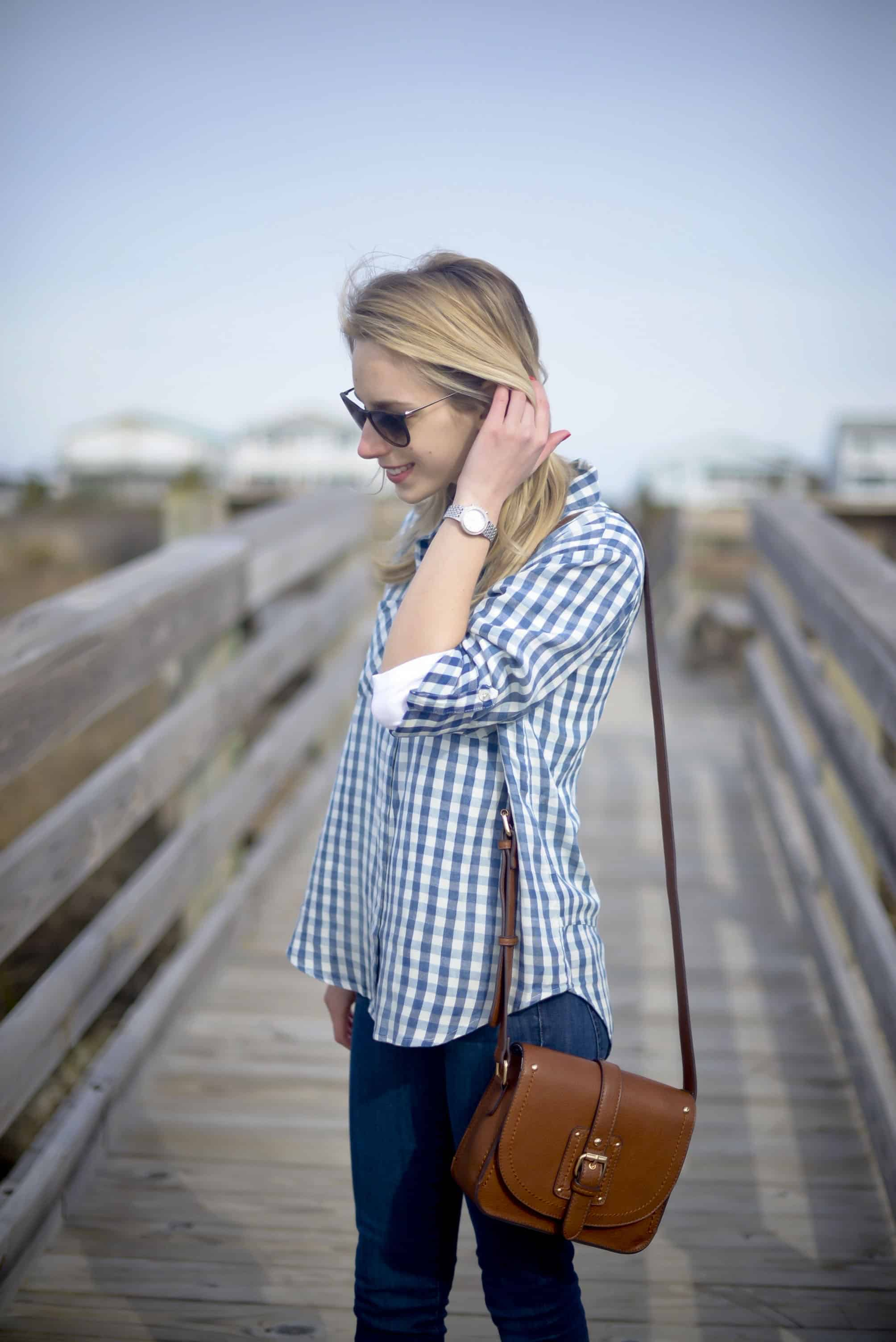 Thread Supply Blue Gingham Shirt