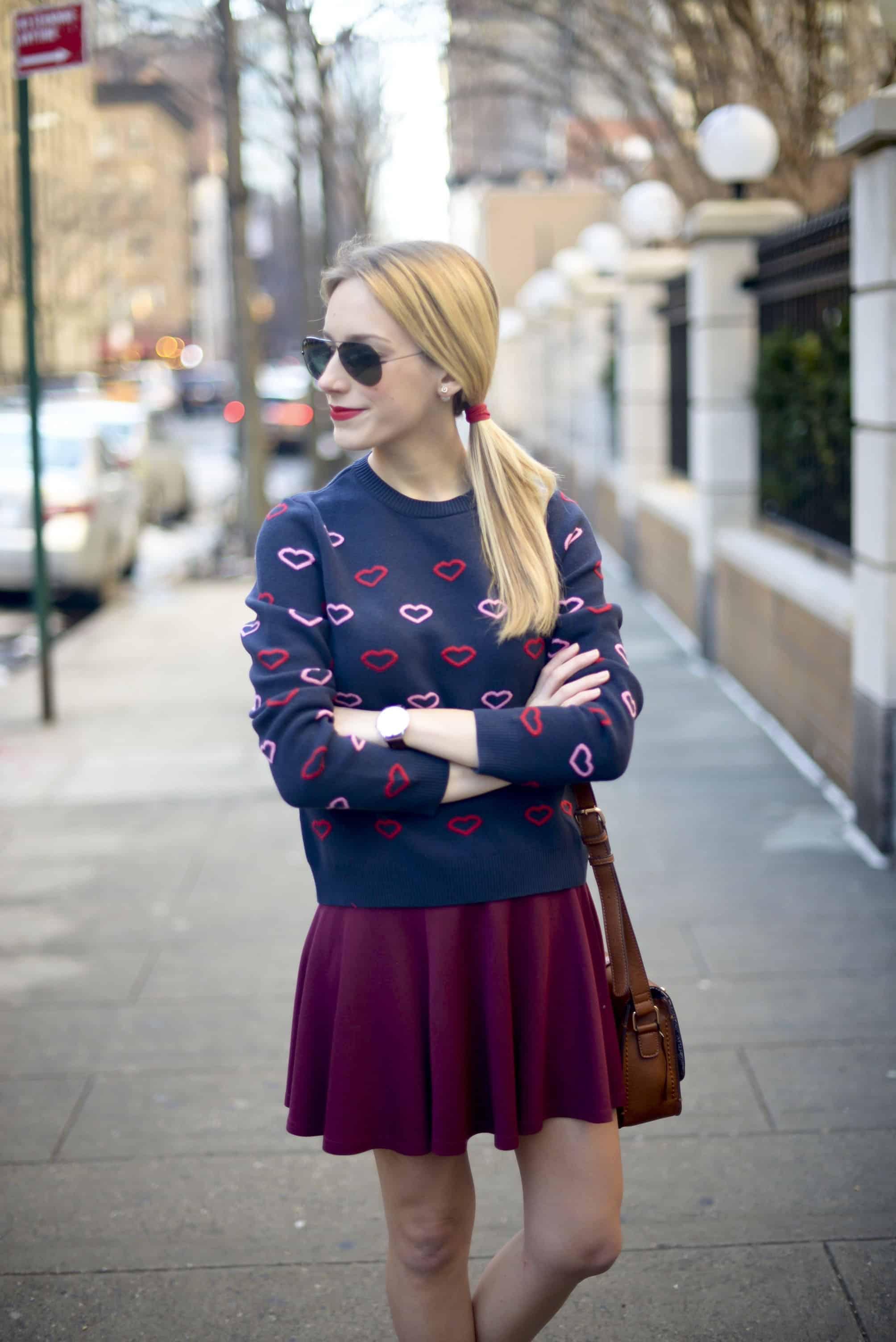 Topshop Heart Sweater