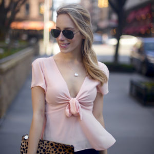 Asos Pink Bow Top