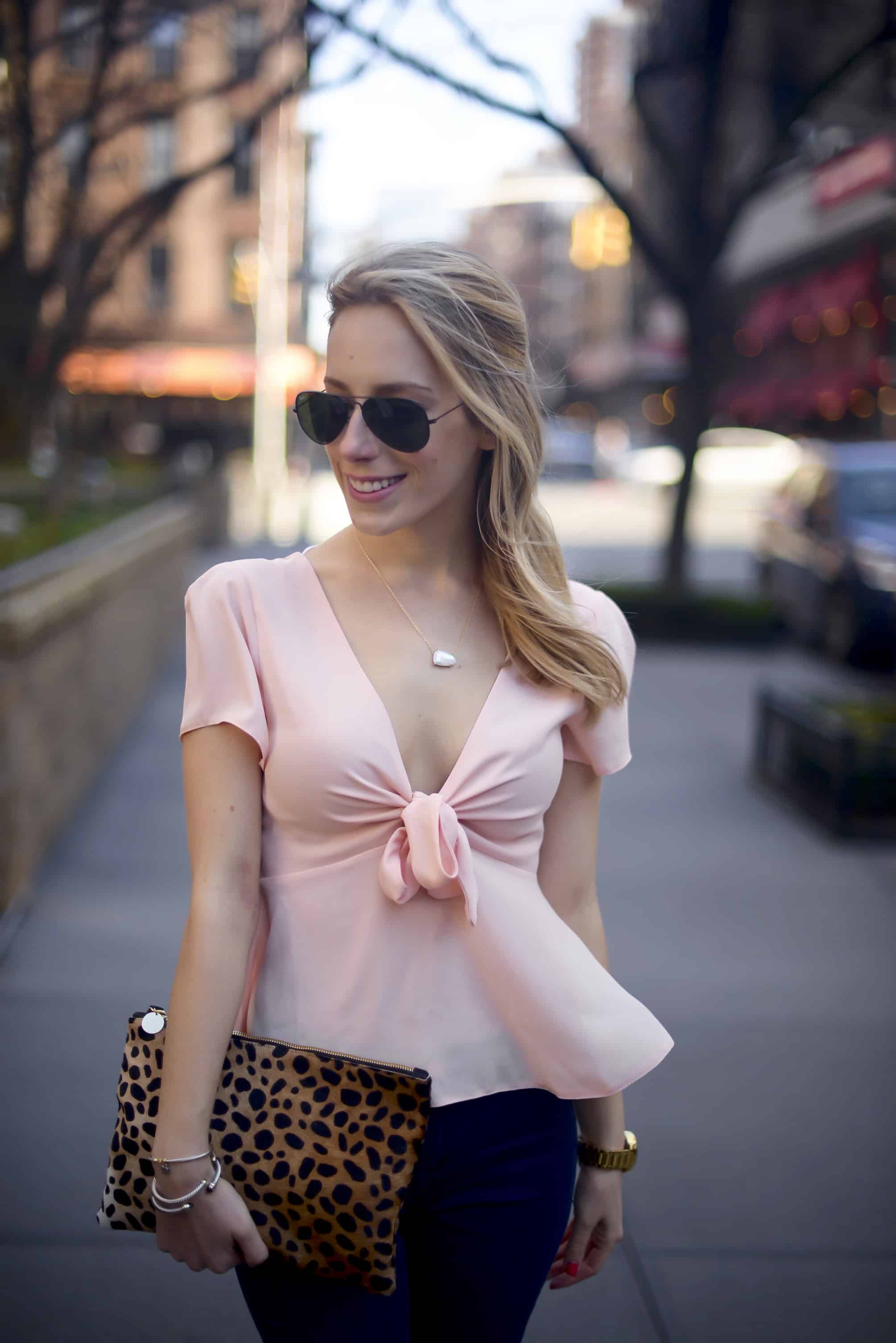 Asos Pink Bow Top