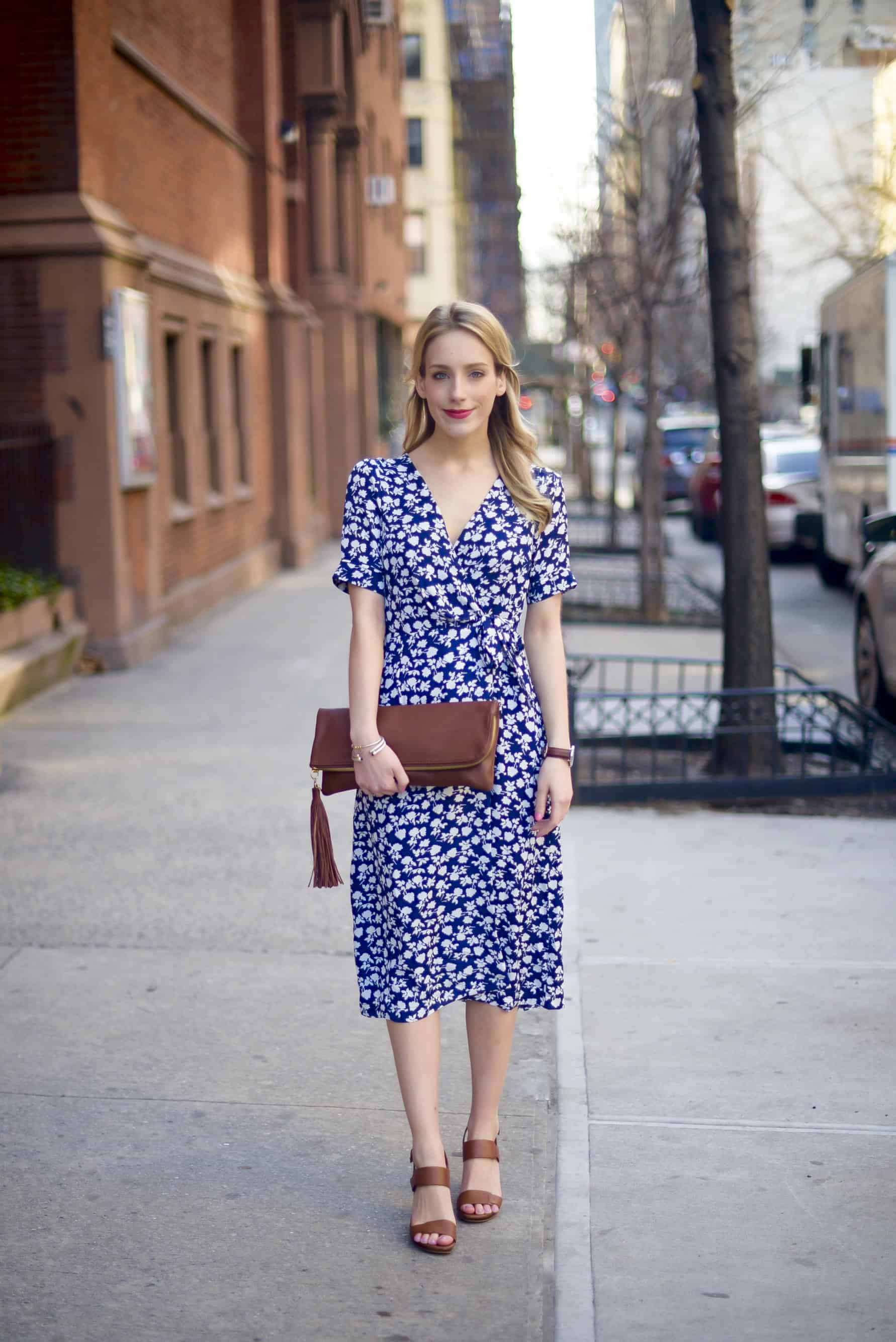 Love Sadie Wrap Front Midi Dress