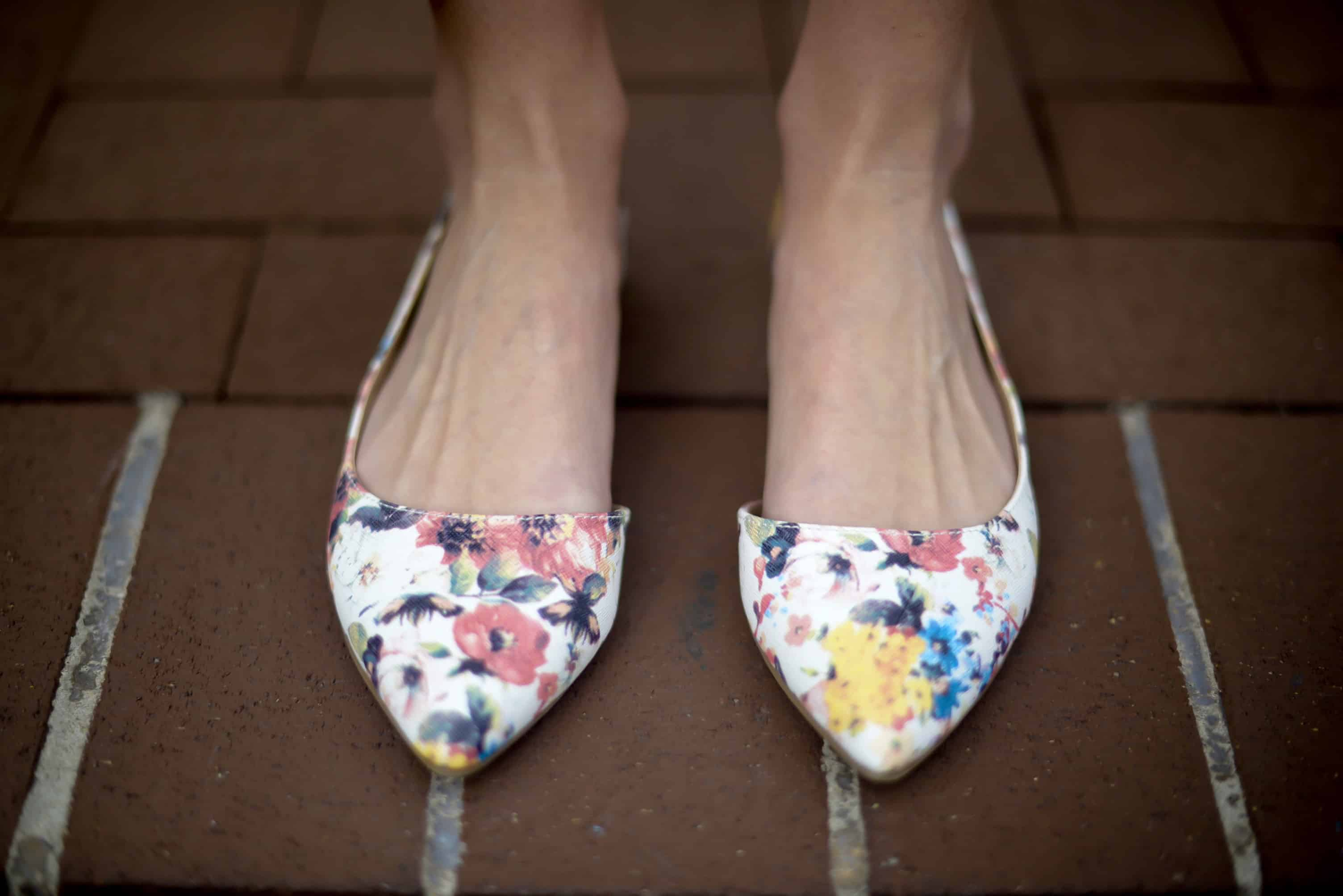 Payless Floral Flats