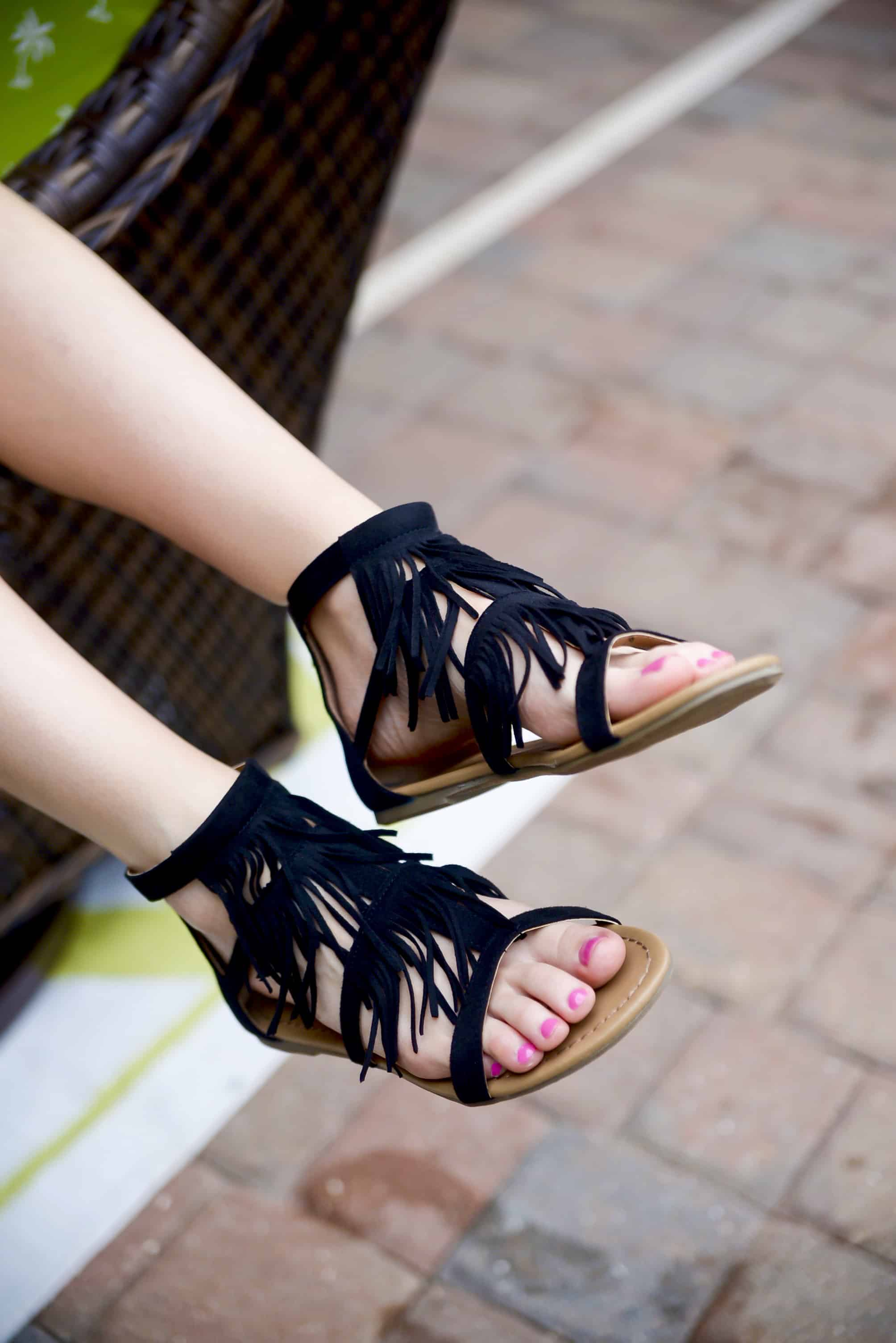 Payless Fringe Sandals