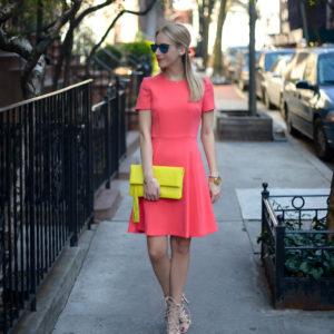 Eliza J Coral Dress