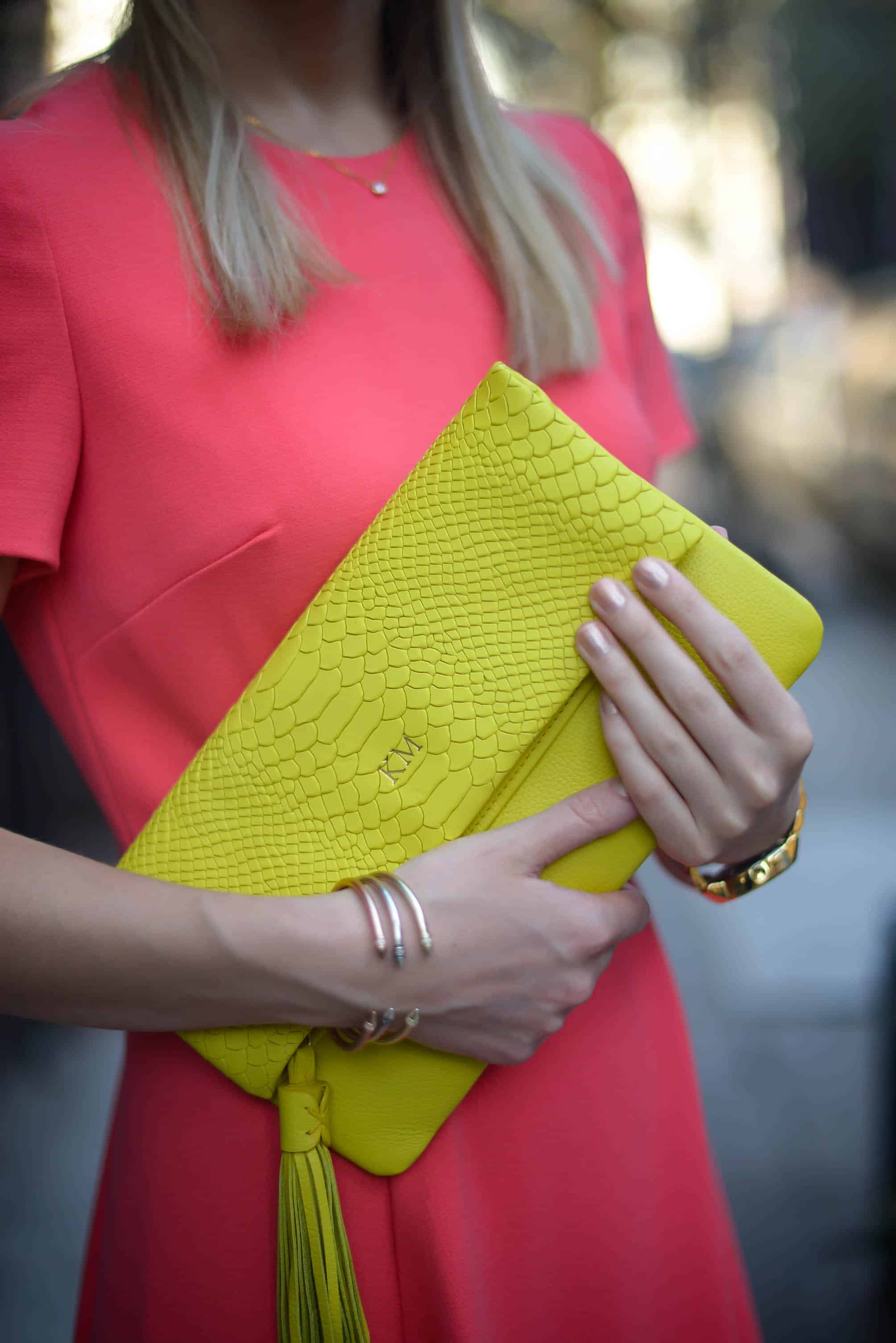 GiGi New York Neon Clutch