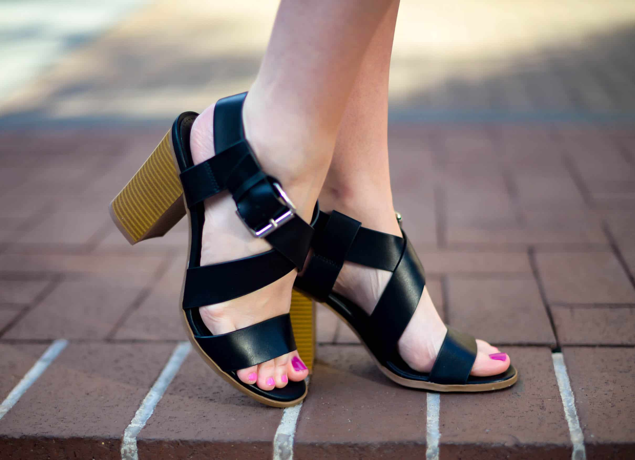 Payless Black Heeled Sandals