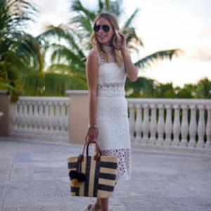 Bardot White Lace Skirt Set