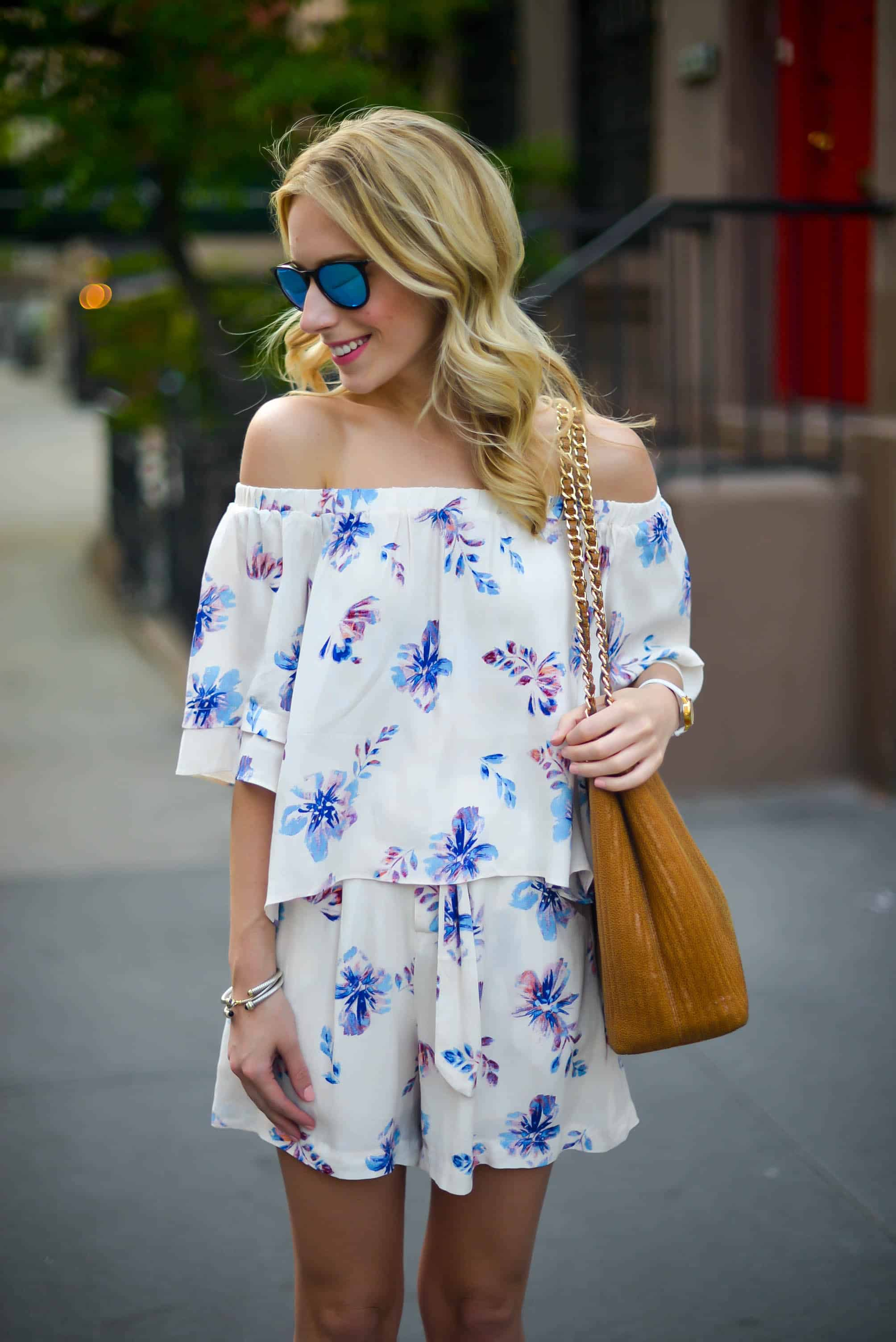 Floral Top & Shorts Set