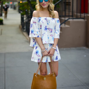 Floral Top & Shorts Set