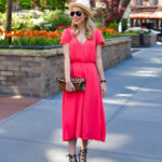 Wayf Red Midi Dress