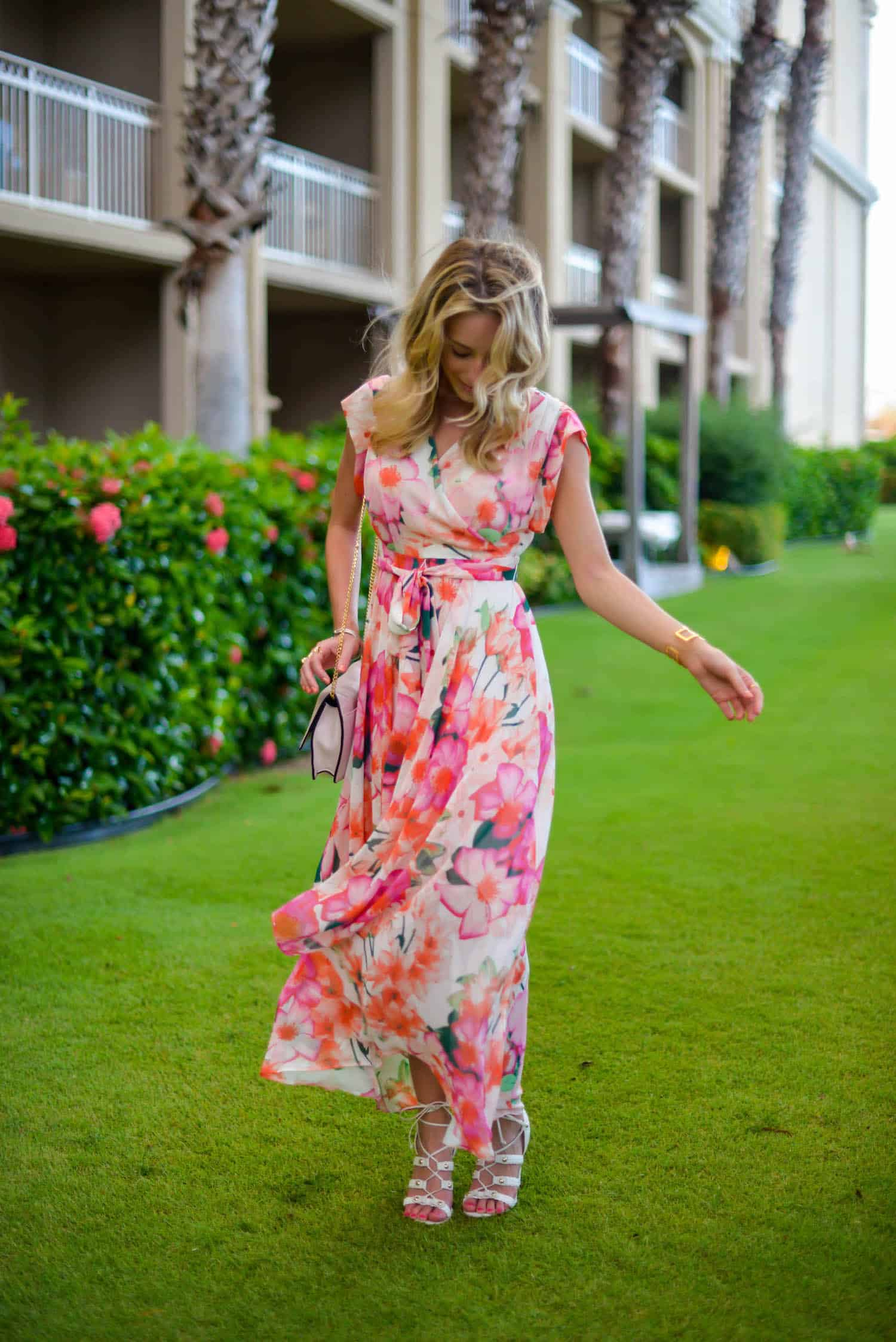Eliza J High Low Floral Dress