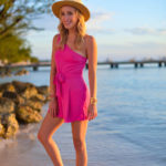 One Shoulder Pink Romper