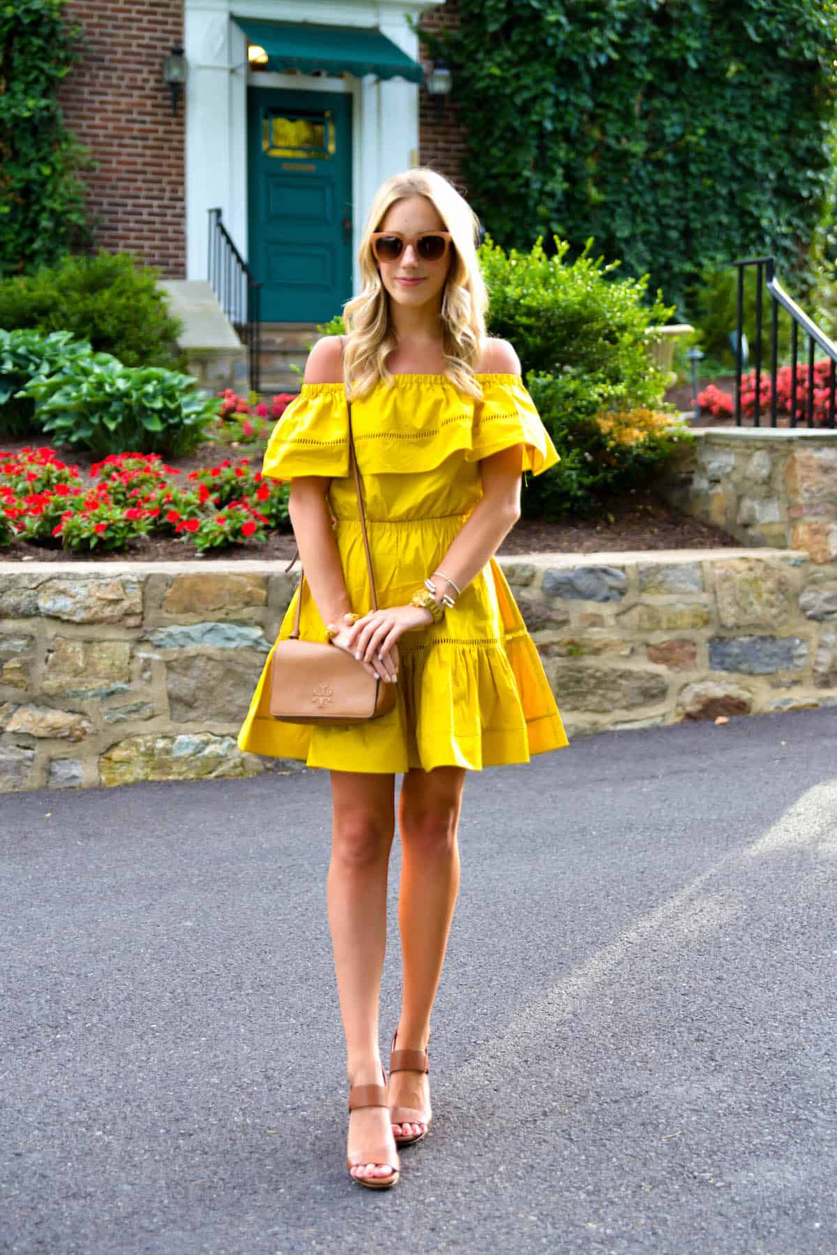 ChicWish-Mustard-Off-Shoulder-Dress-6 Off Shoulder Dresses Fashion-18 Tips to Wear off Shoulder Tops