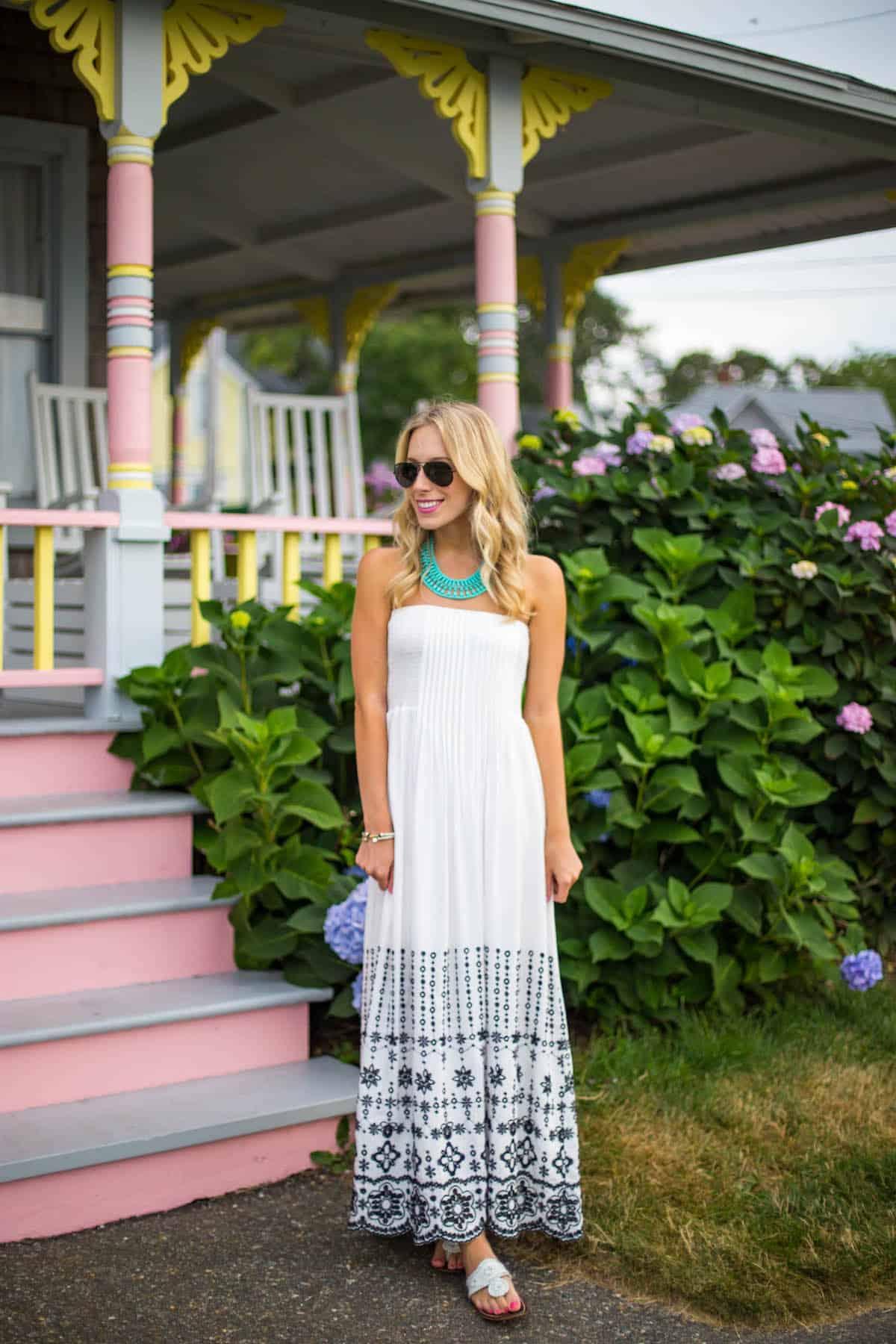 Devlin Strapless White Maxi Dress