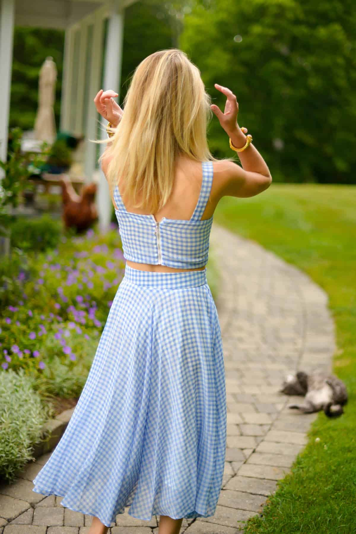 Gingham Crop Top And Skirt Set Katie S Bliss