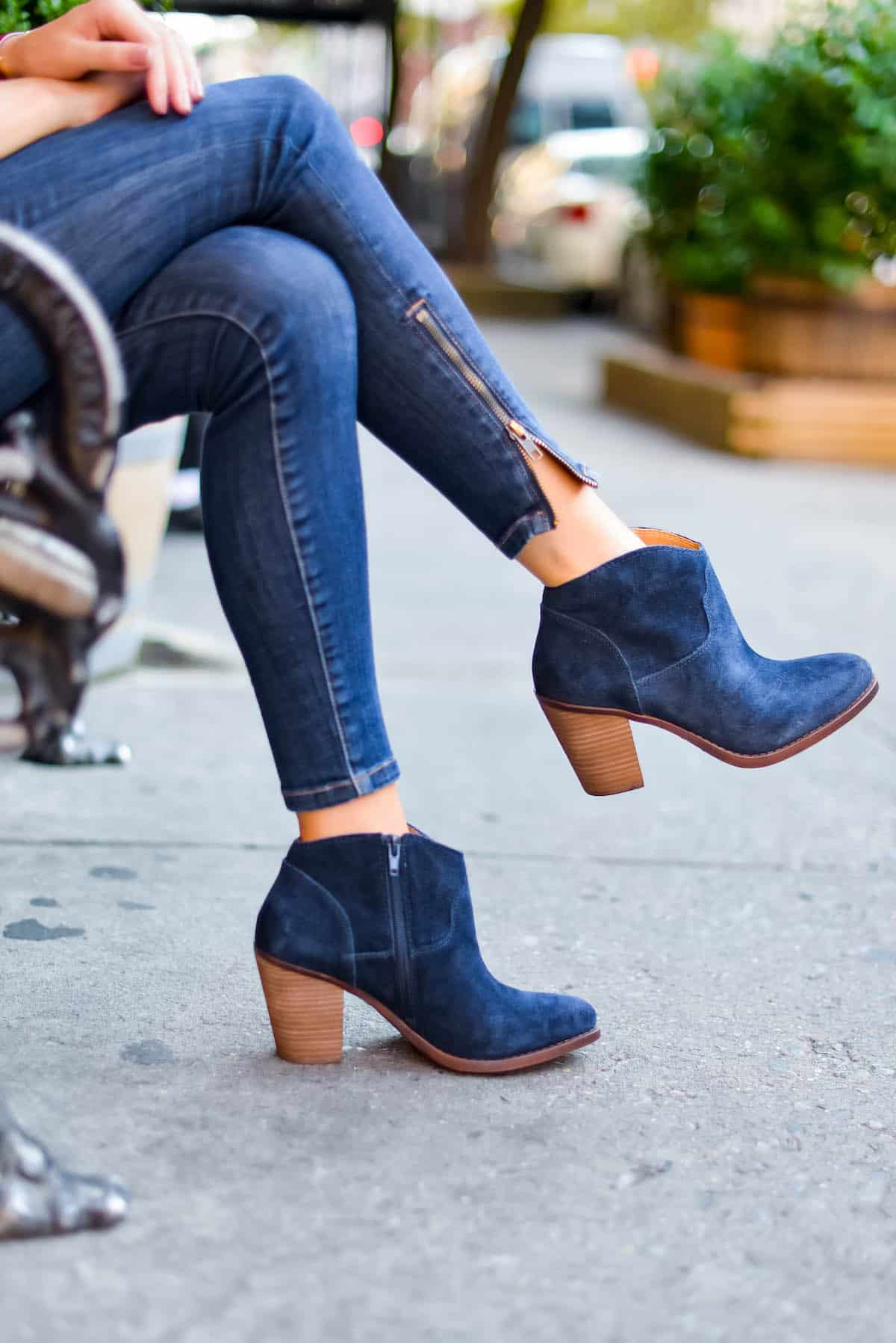 Lucky Brand Navy Booties